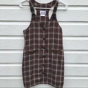 Vintage plaid fall mini dress
